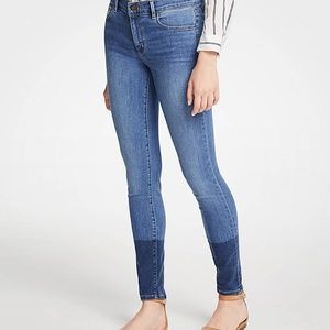 NWT Ann Taylor Colorblock All Day Skinny Jeans